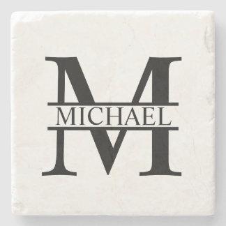 Personalised Monogram and Name Stone Coaster