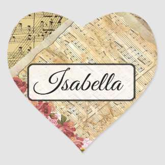 Personalised Musical Notes Name Stickers