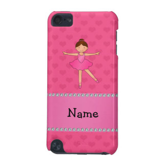 Personalised name ballerina pink hearts iPod touch (5th generation) case