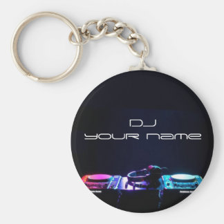 Personalised name dj keychain