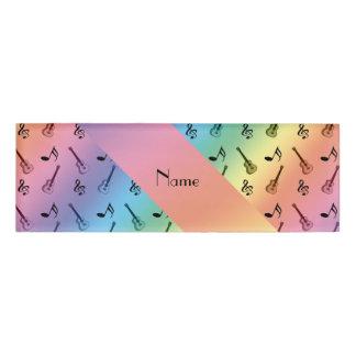 Personalised name rainbow guitars name tag