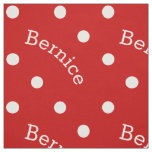 Personalised Name Ruby Red Polka Dot Fabric