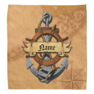 Personalised Nautical Anchor And Wheel Bandana