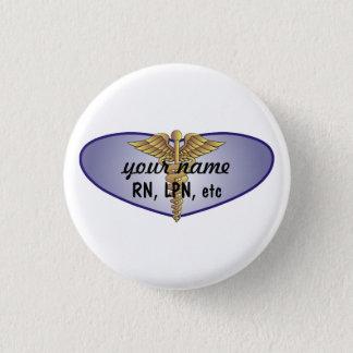 Personalised Nurse 3 Cm Round Badge