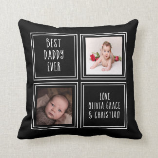 Personalised One of a Kind Two Photo Template Cushion
