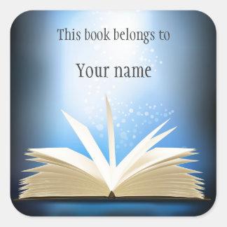 Personalised Open Book Design Bookplate Sticker