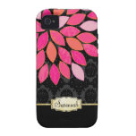 Personalised Orange Pink Black Gold iPhone Case iPhone 4/4S Cases