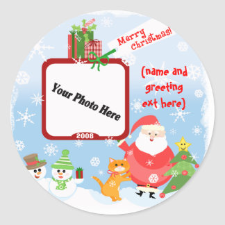 Personalised Photo Christmas Stickers