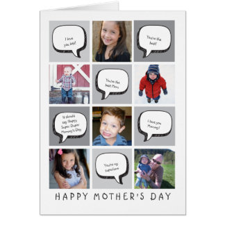Personalised Photo & Greetings Mother's Day Card