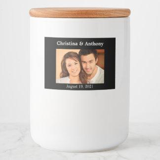 Personalised Photo Wedding Glass Jar Favour Label