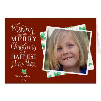 Personalised photographic Christmas note card