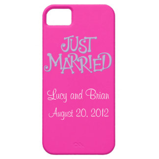 Personalised Pink Just Married iPhone 5 Case