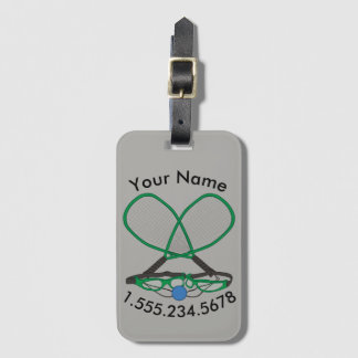 Personalised Racquetball Luggage Tag