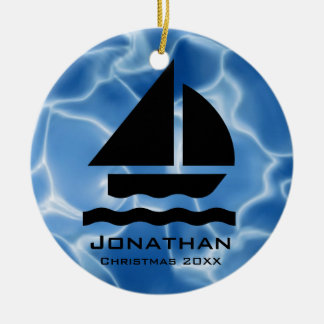Personalised Sailing Ornament