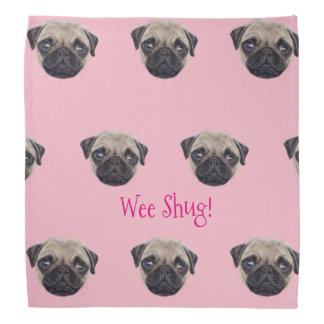 Personalised Shug The Scottish Pug Bandana
