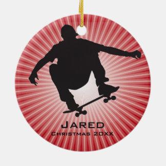 Personalised Skateboarding Ornament