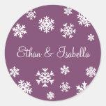 Personalised Snowflakes Envelope Sticker Seal