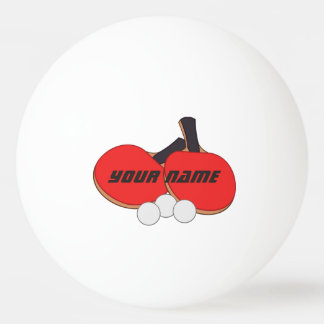Personalised Table Tennis Red Black Ping Pong Ball