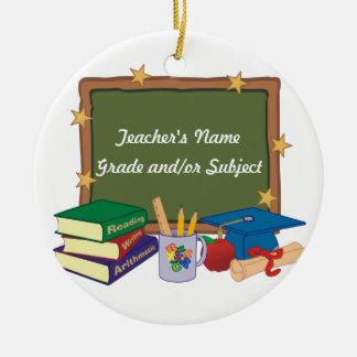 Personalised Teacher Christmas Ornament