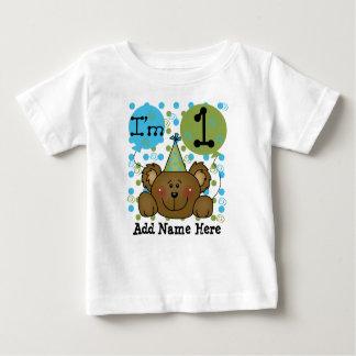 Personalised Teddy Bear 1st Birthday T-shirt