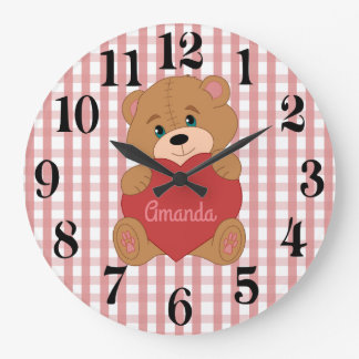 Personalised teddy bear wallclock