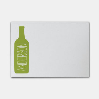 Personalised Text with Bottle Illustration Post-it Notes