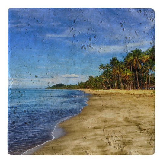 Personalised Tropical Beach Trivets