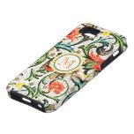 Personalised Vintage Swirly Damask iphone 5 iPhone 5 Case