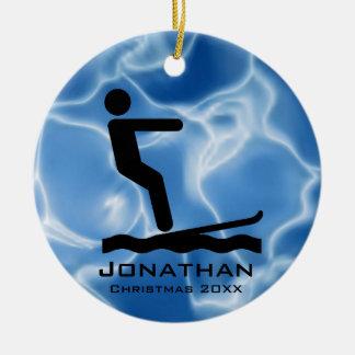 Personalised Waterskiing Ornament