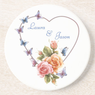 personalisted coaster love romance or wedding, gif