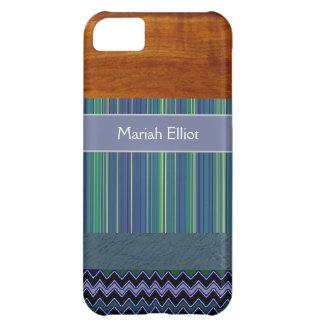 personalizable stripes collage iPhone 5C case