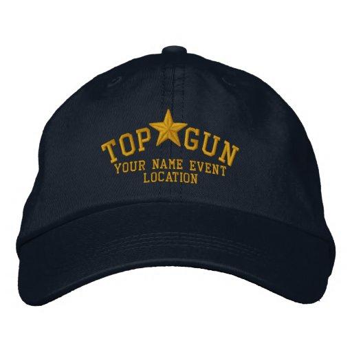Personalizable Top Gun Star Embroidery Baseball Cap