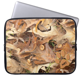 Personalize:  Abstract Nature Photo Autumn Camo Laptop Sleeve