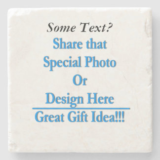 (Personalize) Add a personal touch. Black Text Stone Coaster