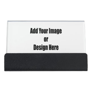"""(Personalize) Add """"Your"""" personal touch. 2 sided Desk Business Card Holder"""