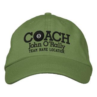 Personalize Billiards Coach Cap Your Name n Game! Baseball Cap