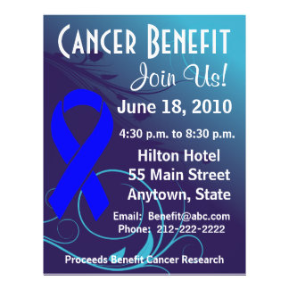 Personalize Cancer Benefit  - Colon Cancer Flyer