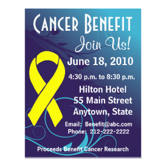 Personalize Cancer Benefit Testicular Cancer Flyer