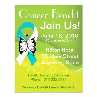 Personalize Cervical Cancer Fundraising Benefit 21.5 Cm X 28 Cm Flyer