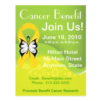 Personalize Childhood Cancer Fundraising Benefit Full Color Flyer