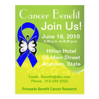 Personalize Colon Cancer Fundraising Benefit 21.5 Cm X 28 Cm Flyer