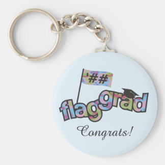 Personalize Color Guard Graduation Key Ring