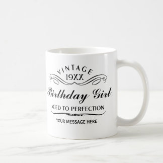 Personalize Funny Birthday Classic White Coffee Mug