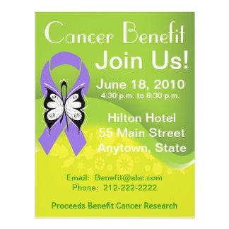 Personalize Hodgkin s Lymphoma Fundraising Benefit Custom Flyer