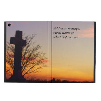 (Personalize) Holy Cross at Sunset iPad Air Cover