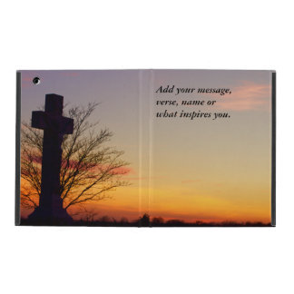 (Personalize) Holy Cross at Sunset iPad Covers