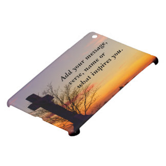 (Personalize) Holy Cross at Sunset iPad Mini Cover