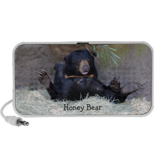 Personalize Honey Bear (Sun Bear) Photo iPhone Speakers