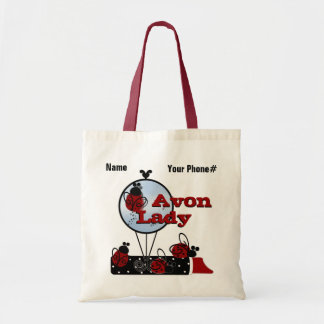 Personalize Lady bug Whims Tote Bag