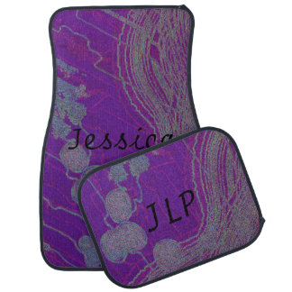 Personalize & monogram Purple Design Floor Mats